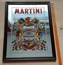 Nostalgie Retro Werbebild gerahmt, mit Spiegel Martini 26x33