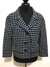 SARTORIA VINTAGE '60 Giacca Donna Lana Corta Woman Wool Jacket Blazer Sz.M - 44