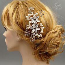 Bridal Hair Comb Pearl Crystal Headpiece Hair Clip Wedding Accessories Pin 412 S