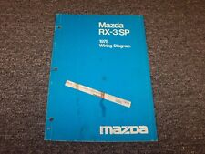 1978 Mazda RX3 SP Coupe Factory Original Electrical Wiring Diagram Manual