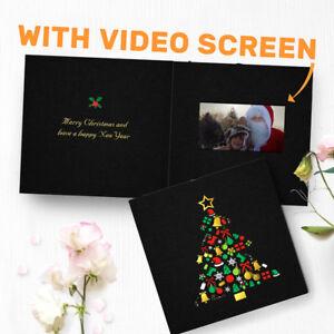 "Christmas Video Greeting Card - Merry Christmas Card - 4.3"" LCD Video 00032"