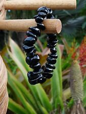 Obsidian Tumbled Gemstone Stretchy Bracelet 08