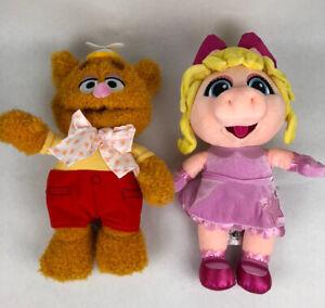 Disney Store The Muppet Babies Fozzie Bear And Miss Piggy Plush Dolls