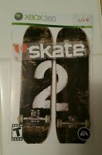 Xbox 360 Skate 2 Instruction Booklet Insert Only Microsoft