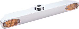 Pro-One Chrome Triple Tree Marker Turn Signal Light Bar 41MM for Harley FXDWG