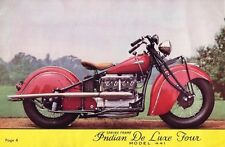 Indian 4 DeLux Four Motorcycle Manuals for 1938 1939 1940 1941 1942 441 Service