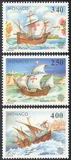 Mónaco 1992 Columbus/Veleros/transporte/exploración/Náutica 3 V Set n41523