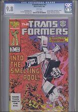 Transformers #17 CGC 9.8 1986  Marvel Comic: Many 1st apperances : Key