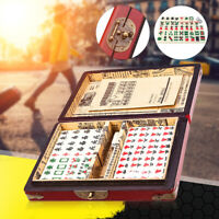 144 Tiles Chinese Traditional MahJong Game Set + Retro Box Home Party Game Gift