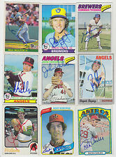 1980 TOPPS SIGNED ON CARD BERT ROBERGE HOUSTON ASTROS WHITE SOX EXPOS # 329