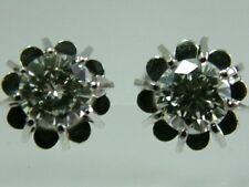 FABULOUS QUALITY 18CT WHITE GOLD SOLITAIRE DIAMOND EARRINGS STUDS - 0.70CARATS