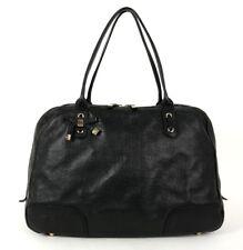GUCCI Black Guccissima Logo Leather PRINCY XL Boston Style Tote Bag