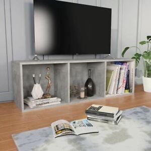 Book Cabinet TV Stand Unit 3 Compartment Multipurpose Display Rack Furniture