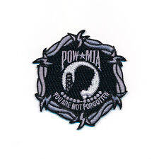 68 x 70 mm Pow * Mia POW MIA Mount Pow/Mia powmia patch écusson Aufbügler 0564 a