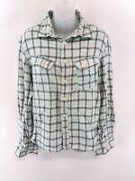 LEVIS Womens Shirt M Medium Blue Check Cotton