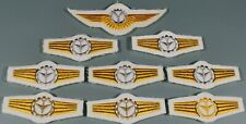 Post WW2 West German Bundeswehr Luftwaffe Air Force Wings Lot of 9 On White F270