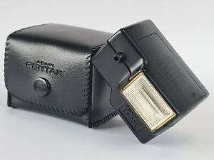 Pentax Asahi AF100P Flash Unit For Auto 110 Camera, With Case, Tested Working