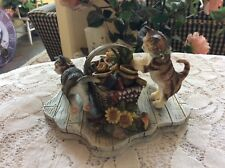 """Curious Cats """" Mischief"""" Figurine First Edition 2000 Artwork By Susan Winget"""