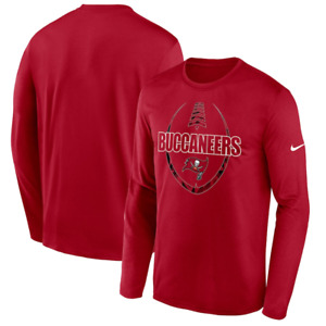 Tampa Bay Buccaneers T-Shirt NFL Nike Icon Legend Performance LS T-Shirt - New