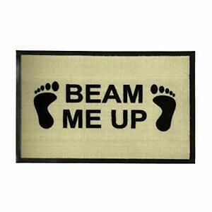 """Durable Doormat 60 x 40 cm with Star Trek Novelty Design """"Beam Me Up"""" Funny"""