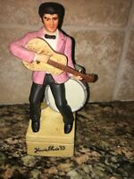 "ELVIS PRESLEY DECANTER ""YOURS 55"" LIMITED EDITION MUSICAL BOX 7 1/2"""