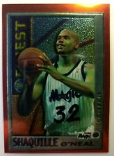 1996 96-97 Topps Finest Shaquille O'neal #M22, No Peel, Magic, HOF