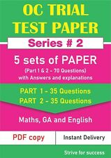 Opportunity Class  (OC) Trial Test Papers - 5 Sets of Papers # Series 2