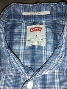 LEVI'S Western style short sleeve check shirt LEVIS ROCKABILLY KUSTOM CULTURE *