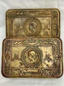 2 WWI Princess Mary Christmas Gift Brass Tins