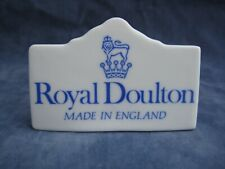 More details for royal doulton china advertising display sign plaque shop dealer point of sale