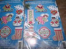 Design Works NOEL Christmas Ornaments Cross Stitch Plastic Canvas Kit
