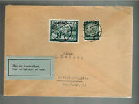 1940 Goppingen Germany Cover to Berlin Judaica Label