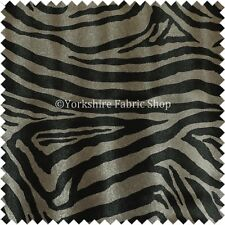 Animal Skin Theme Zebra Inspired Striped Grey Faux Leather Upholstery Fabric