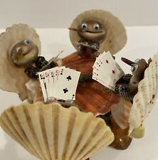 Seashell  Poker Players Card Game Figurine Philippines Frogs? Man Cave