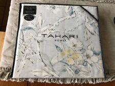 Tahari Home New 3 Pc King Duvet Cover Set Floral Light Blues