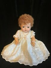 Vintage Doll American Character Tiny Tears Rubber Baby 13� Caracul Curls 1950s