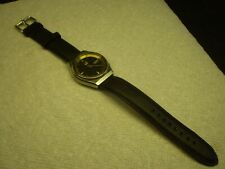 Seiko 5 Mens Automatic Wrist Watch 36.5mm Leather Strap Date & Day Runs Serviced