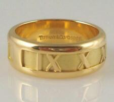TIFFANY & CO. 18K Gold Atlas Ring 5.5