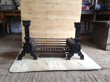 Reclaimed Cast Iron Fire Dogs And Basket ( Open Fire Grate)