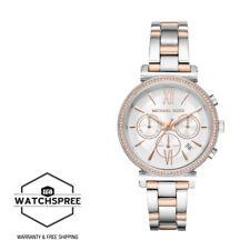 Michael Kors Ladies' Sofie Chronograph Crystal Silver Dial Watch MK6558
