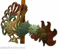 "Vintage CAST ALUMINUM ROOSTER Hand-Painted ""SEXTON METAL CRAFTS"" Wall Sculpture"