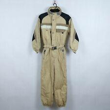 ASTROLABIO Vintage Womens Brown Festival One Piece Ski Suit Snowsuit Small, S