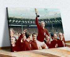 CANVAS WALL ART PRINT ARTWORK PICTURE ENGLAND WORLD CUP 1966 FOOTBALL