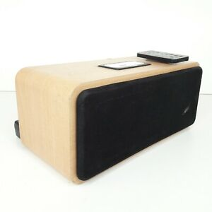 Acoustic Solutions Wooden Speaker Dock For iPhone And iPod - Tested and Working
