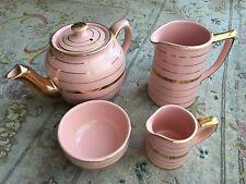 Rare Vintage1930s Pink Sadler Ironstone Teapot, Creamer, Milk Jug & Sugar Bowl