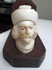Antique 1892 German Meerschaum Pipe w/ Stand Sir Walter Raleigh