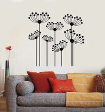 Vinyl Wall Decal Flowerbed Abstract Flowers Garden Stickers (973ig)