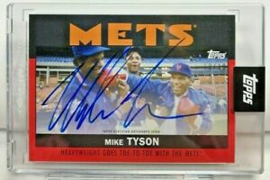 Mike Tyson 2021 Topps X ESPN Once Upon a Time in Queens RED Autograph Auto#10/10
