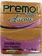 M00050 Morezmore Premo Accents Sculpey Rose Gold Glitter 2 oz Polymer Clay A60