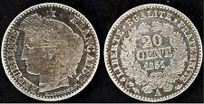 20 Centimes 1851 A. Cérès. Argent. Belle qualité